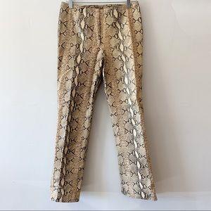 Vintage Danier Python Leather Pants Cream & Black
